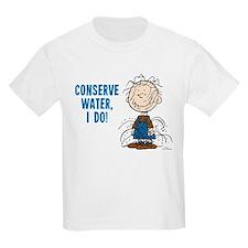 The Peanuts: Conserve Water Kids Light T-Shirt