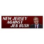 New Jersey Against Bush Bumper Sticker