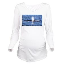 Beautiful Fin Whale Long Sleeve Maternity T-Shirt