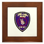 Redlands PD SWAT Framed Tile