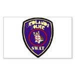 Redlands PD SWAT Rectangle Sticker
