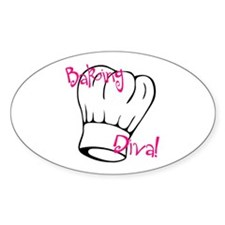 Baking Diva Oval Decal