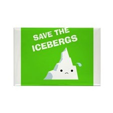 Save the Icebergs Rectangle Magnet (10 pack)