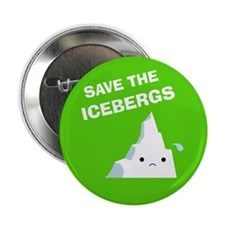 "Save the Icebergs 2.25"" Button (10 pack)"