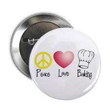 "Peace, Love, Baking 2.25"" Button (10 pack)"