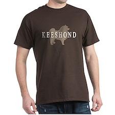 Keeshond Dog & Text T-Shirt
