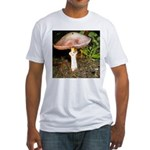 Large and small mushrooms Fitted T-Shirt