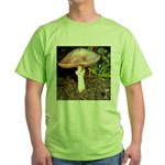Large and small mushrooms Green T-Shirt