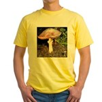 Large and small mushrooms Yellow T-Shirt