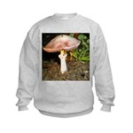 Large and small mushrooms Kids Sweatshirt