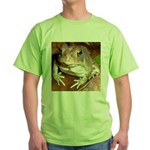 King Toad On Toadstool Throne Green T-Shirt