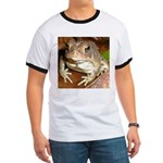 King Toad On Toadstool Throne Ringer T