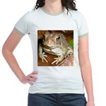 King Toad On Toadstool Throne Jr. Ringer T-Shirt