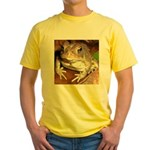 King Toad On Toadstool Throne Yellow T-Shirt