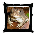 King Toad On Toadstool Throne Throw Pillow