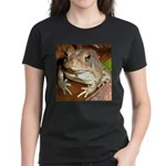 King Toad On Toadstool Throne Women's Dark T-Shirt