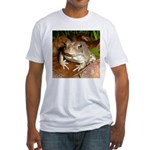 King Toad On Toadstool Throne Fitted T-Shirt