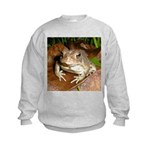 King Toad On Toadstool Throne Kids Sweatshirt