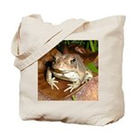 King Toad On Toadstool Throne Tote Bag