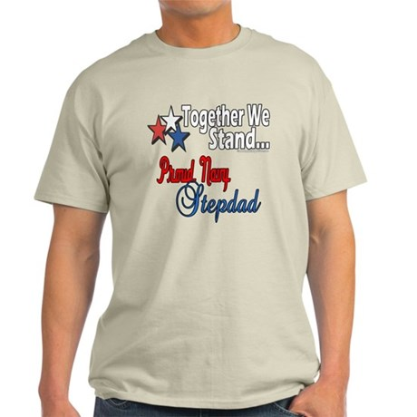 Proud Navy Stepdad Light T-Shirt