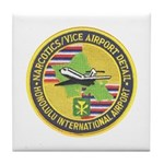 Honolulu PD Airport Detail Tile Coaster