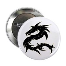 "Black Star Dragon 2.25"" Button (100 pack)"