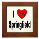 I Love Springfield Framed Tile
