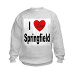 I Love Springfield Kids Sweatshirt