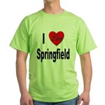I Love Springfield Green T-Shirt