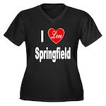 I Love Springfield (Front) Women's Plus Size V-Nec