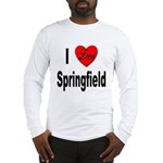 I Love Springfield (Front) Long Sleeve T-Shirt