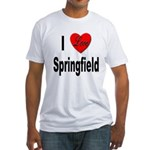 I Love Springfield (Front) Fitted T-Shirt