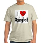 I Love Springfield (Front) Light T-Shirt