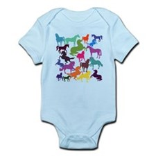 Rainbow Horses Body Suit