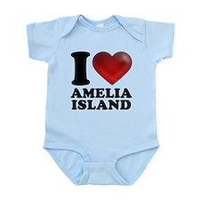 I Heart Amelia Island Body Suit
