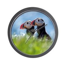Puffin Pair Wall Clock