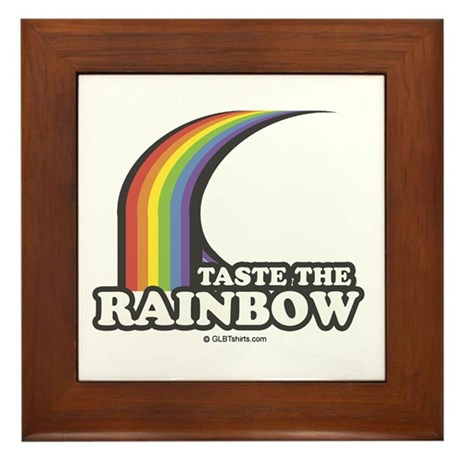Taste the rainbow Framed Tile