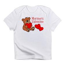 Mormor's Valentine Cartoon Bear Infant T-Shirt