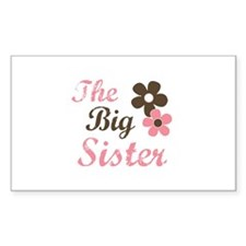the big sister flower Rectangle Decal