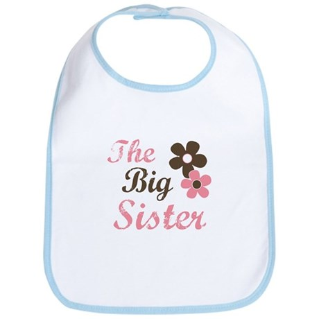 the big sister flower Bib