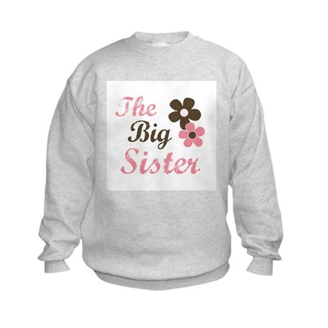 the big sister flower Kids Sweatshirt
