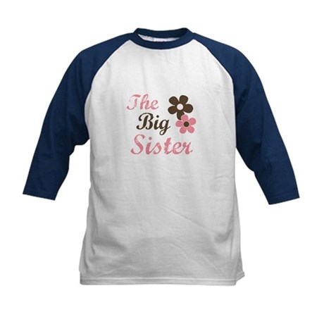 the big sister flower Kids Baseball Jersey
