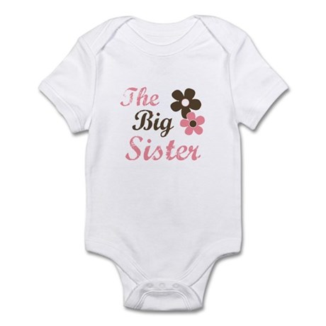 the big sister flower Infant Bodysuit