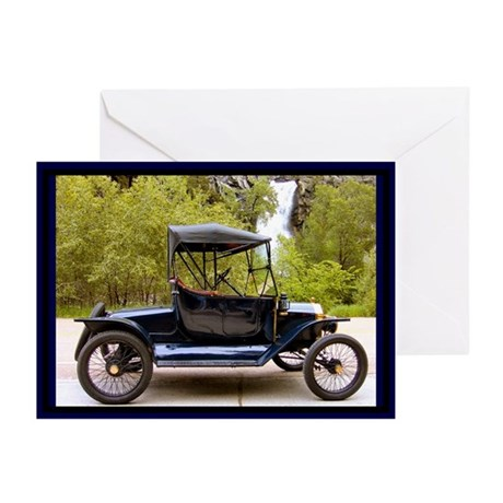 Waterfall Classic Car Greeting Cards (Pk of 10)
