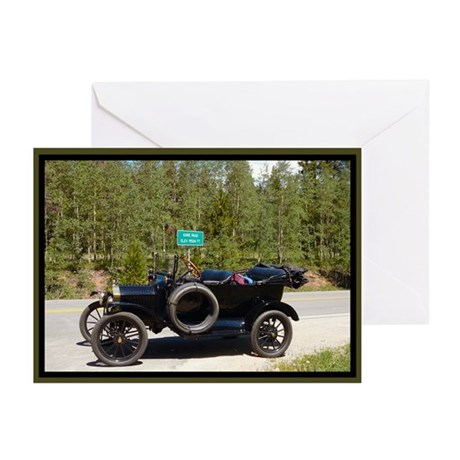 Gore Pass Antique Car Greeting Cards (Pk of 10)