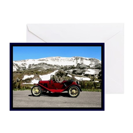 Snowy Mountain Roadster Greeting Cards (Pk of 10)
