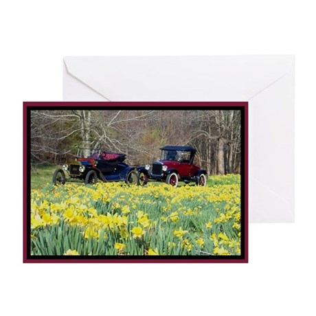 Buttercups Classic Cars Greeting Cards (Pk of 10)