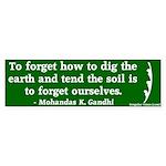 Tend the Earth Gandhi Bumper Sticker