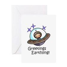 GREETINGS EARTHLING Greeting Cards