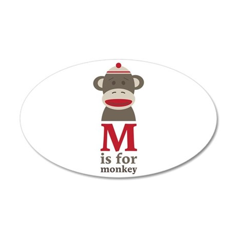 M Is For Monkey Wall Decal